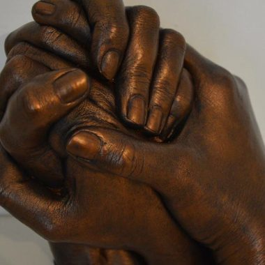 Hands together | Cherished Design - Life Casting